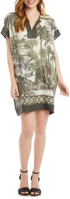 Karen Kane Safari Print Shift Dress