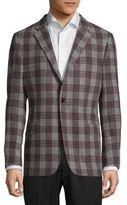 Hickey Freeman Wool Long Sleeve Blazer