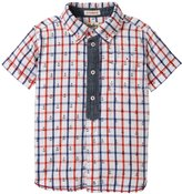 Hatley Anchors Faux Placket Shirt (Toddler/Kid) - White - 5