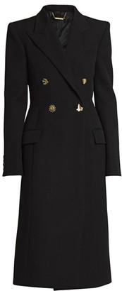 Givenchy Fantasy Button Virgin Wool Coat