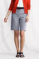 Lands' End Women's Regular Fit 3 Bedford Bermuda Shorts
