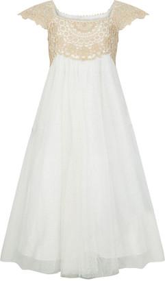 Monsoon Estella Sparkle Dress Gold