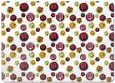uneekee Tulip Stickers Placemat Vinyl Easy Clean Heat Insulation Stain-resistant