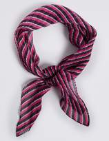M&S Collection Crinkle Striped Scarf