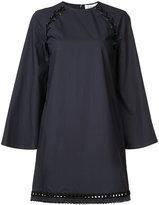Derek Lam 10 Crosby lace-up shoulder shift dress - women - Cotton - 0