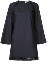 Derek Lam 10 Crosby lace-up shoulder shift dress