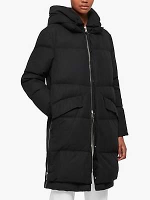 AllSaints Ester Parka Quilted Coat, Black