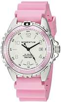 Momentum Women's Quartz Stainless Steel and Rubber Diving Watch, Color:Pink (Model: 1M-DN11LR1R)