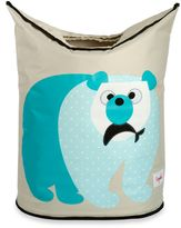 3 Sprouts Polar Bear Laundry Hamper in Blue