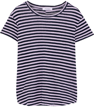 Frame Striped Linen-jersey T-shirt