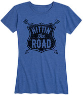 Instant Message Women's Women's Tee Shirts HEATHER - Heather Royal Blue 'Hittin' The Road' Relaxed-Fit Tee - Women