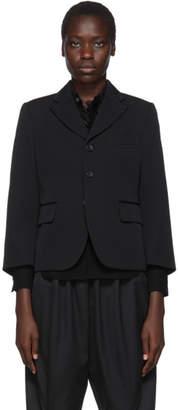 Comme des Garcons Black Wool Gabardine Blazer