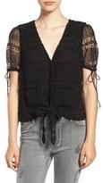 Tularosa Women's 'Corrin' Lace Tie Waist Top
