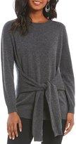 Antonio Melani Luxury Collection Lesley Tie Front Cashmere Sweater