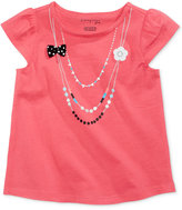 First Impressions Necklace-Print Cotton T-Shirt, Baby Girls (0-24 months), Created for Macy's