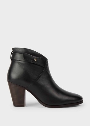Hobbs Ivy Leather Block Heel Ankle Boots