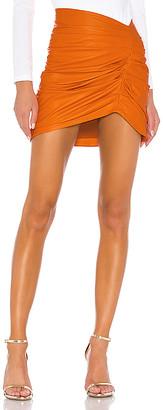 Camila Coelho Clementine Leather Skirt