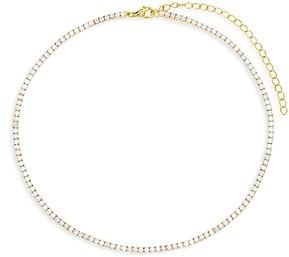 Adina's Jewels Cubic Zirconia Tennis Choker Necklace, 12-15