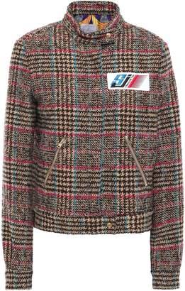 Stella Jean Wool-blend Boucle-tweed Jacket