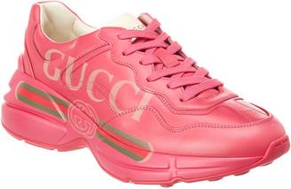 Gucci Rhyton Logo Leather Sneaker