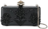Alexander McQueen Heart Frame embroidered clutch - women - Leather/metal - One Size