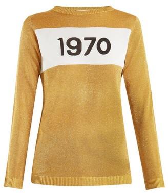 Bella Freud 1970-intarsia Metallic Sweater - Gold