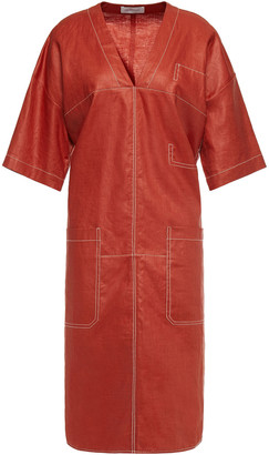 Lee Mathews Phoebe Oversized Linen Dress