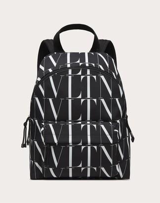 Valentino Garavani Uomo Vltn Times Nylon Backpack Man Black/white Polyester 51%, Polyamide 49% OneSize