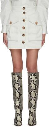 Acler 'DUNBAR' Button Front Mini Skirt