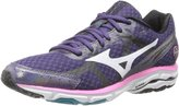 Mizuno Wave Rider 17 Running Shoe,Purple Plumeria/White/Shocking Pink