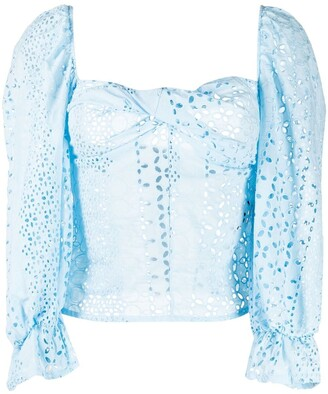 FEDERICA TOSI Broderie Anglaise Long-Sleeved Blouse