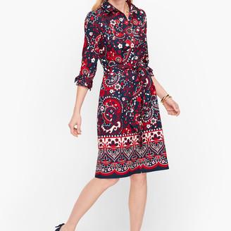 Talbots Picnic Paisley Poplin Shirtdress