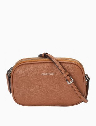 Calvin Klein Pebble Dual Compartment Crossbody Bag