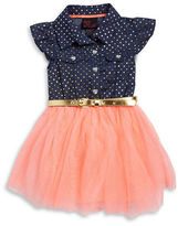 Little Lass Girls 2-6x Polka Dot Belted Dress