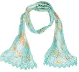 Salvatore Ferragamo Silk Pleated Scarf