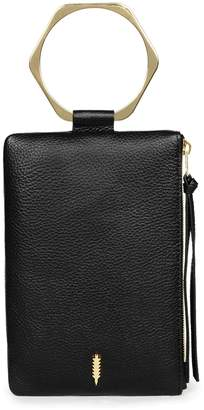 THACKER Nolita Hexa Ring Handle Leather Clutch