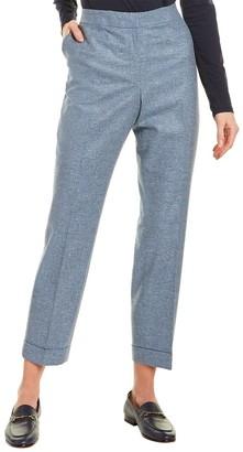 Lafayette 148 New York Clinton Cuffed Wool & Silk-Blend Pant