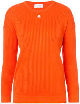 Courreges rib knit top