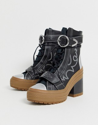 Converse Western Lace Up Platform Boots