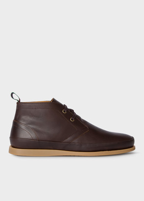 Paul Smith Men's Brown Leather 'Cleon' Boots