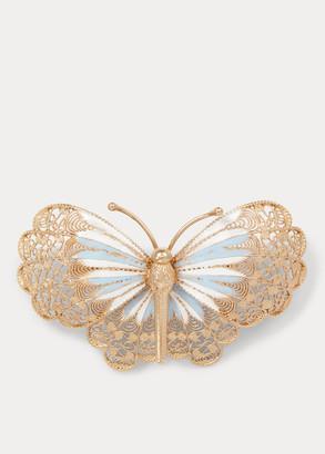 Ralph Lauren Butterfly Brooch Necklace