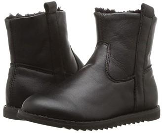 Old Soles Lounge Boot (Toddler/Little Kid) (Black/Black) Girl's Shoes