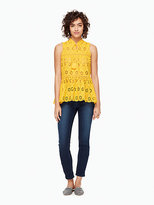 Kate Spade Eyelet sleeveless top