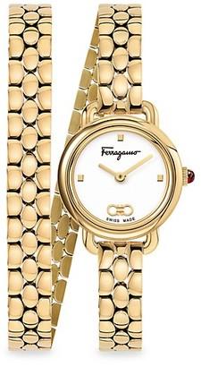 Salvatore Ferragamo Varina Yellow Gold Bracelet Watch