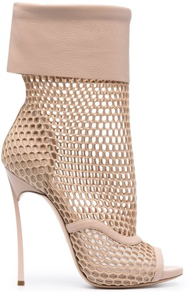 Casadei Blade Webster mesh panel pumps