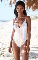 La Hearts V-Strappy Back One Piece Swimsuit