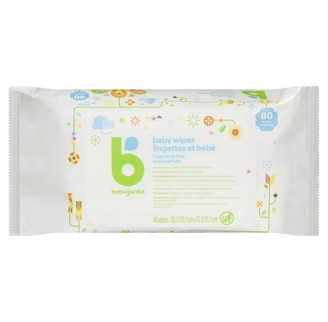 BabyGanics Baby Wipes - Face, Hand & Baby Wipes - Fragrance Free - 80 Count