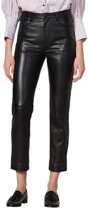 Sandro Slim Leather Pants