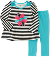 Kids Headquarters Baby Girls' 2-Pc. Striped Flower Tunic & Leggings Set
