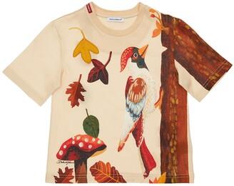 Dolce & Gabbana Nature Printed Cotton Jersey T-Shirt